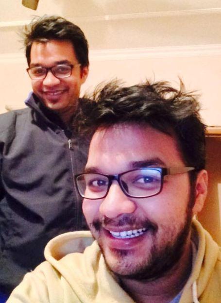 Apoorv Singh Karki and his brother