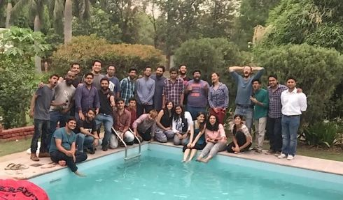 Apoorv Singh Karki with TVF team