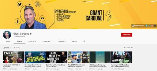 Grant Cardone - YouTube Channel