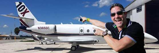 Grant Cardone with his Gulfstream G550
