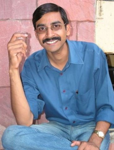 Amit Khare in his younger days
