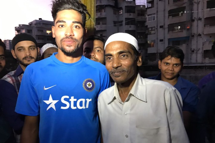 Mohammed Siraj with his father