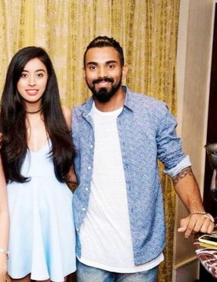 KL Rahul with girlfriend Elixir Nahar