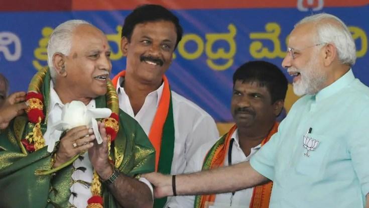 B S Yeddyurappa with Narendra Modi