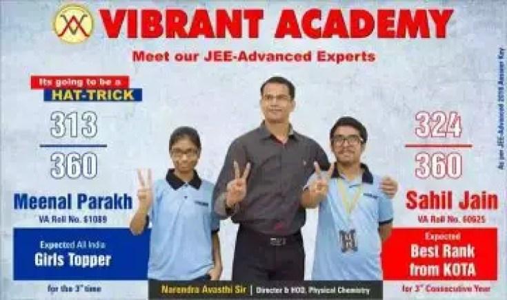 Meenal Parakh JEE Advance Topper