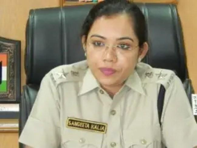 Sangeeta Kalia,IPS officer