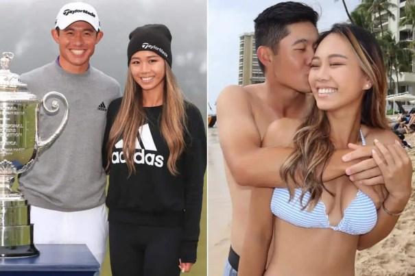 An Image of Collin Morikawa with his Girlfriend