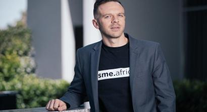 An Image of Marnus Broodryk with his sme.africa Tshirt