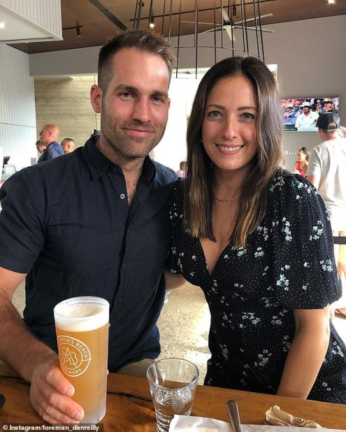 Dan Reilly with his wife Dani Wales