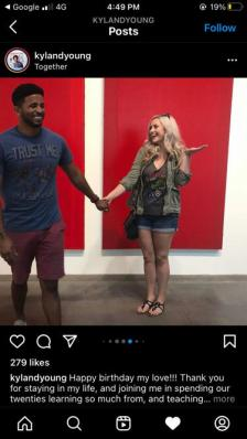 An Image of Kyland Young and his girlfriend