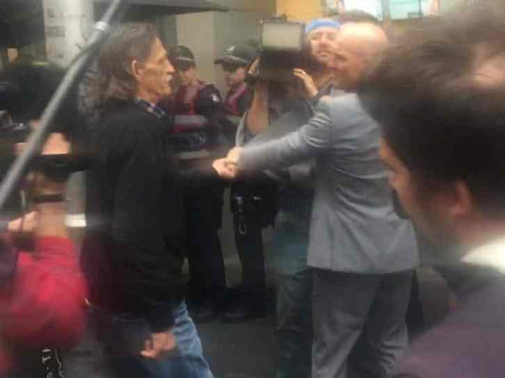 Paul dowsley in Melbourne Protest