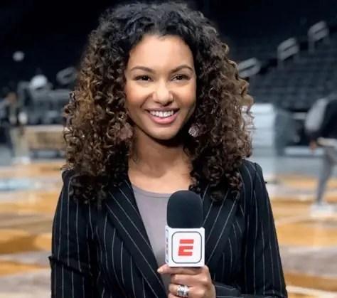 Avant son arrivée dans la bulle, Malika Andrews couvrait les matchs des Nets et des Knicks pour ESPN