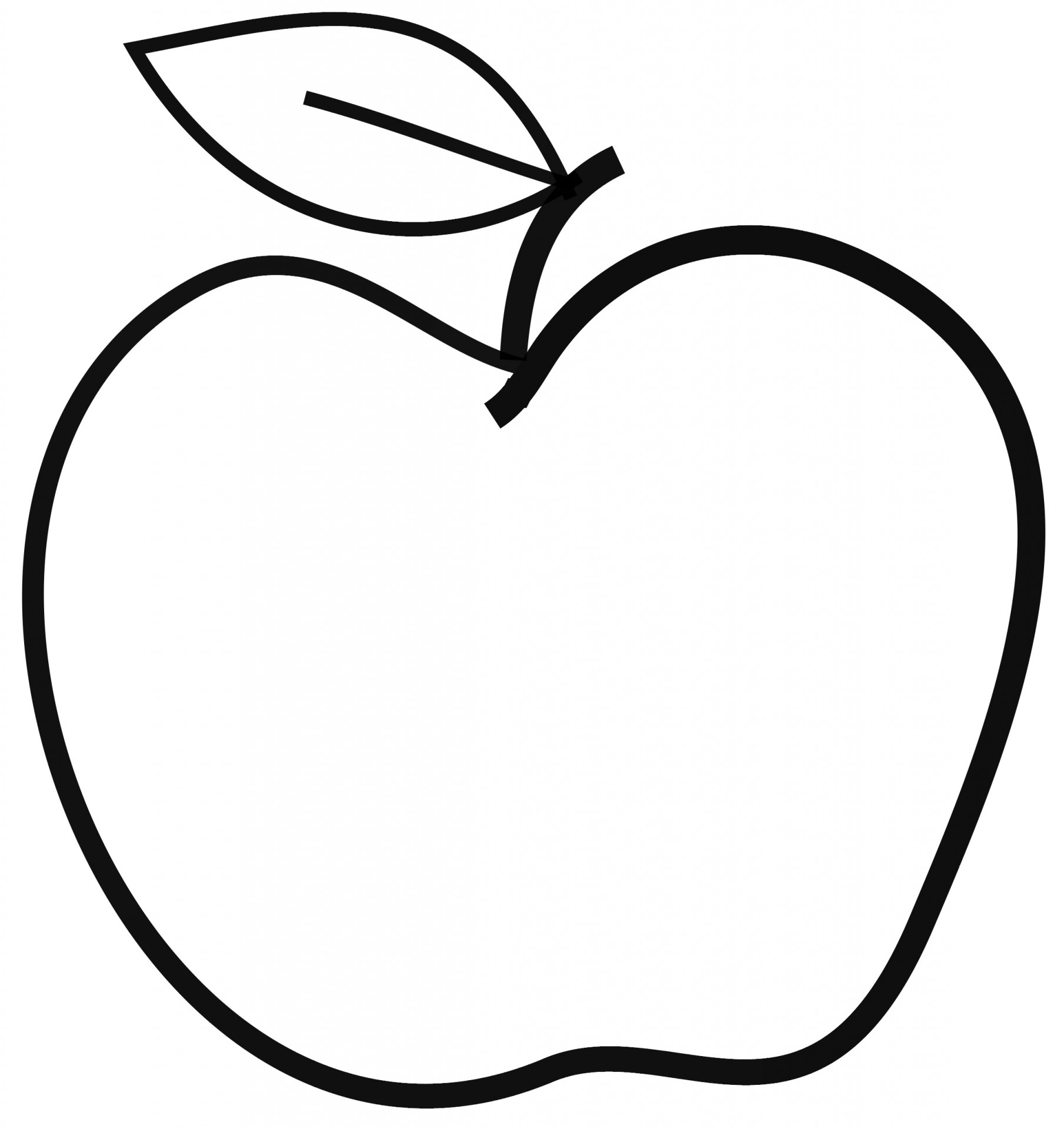 Apple Clip Art Black White