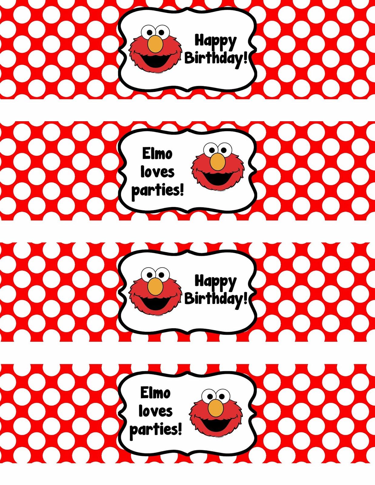 Binge Crafter Free Printable Elmo Happy Birthday Water