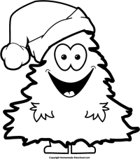 Christmas Clip Art Black White Merry And Happy New