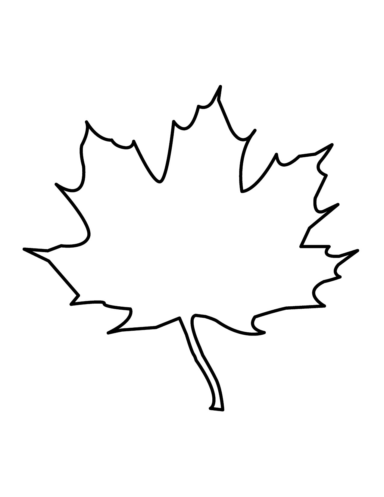 Leaf Outline Tree Outline With Leaves Clipart 4