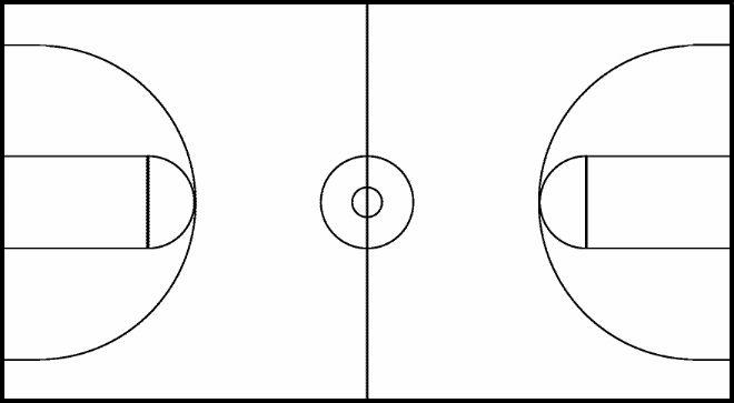 Basketball Court Blank Clipart Wikiclipart