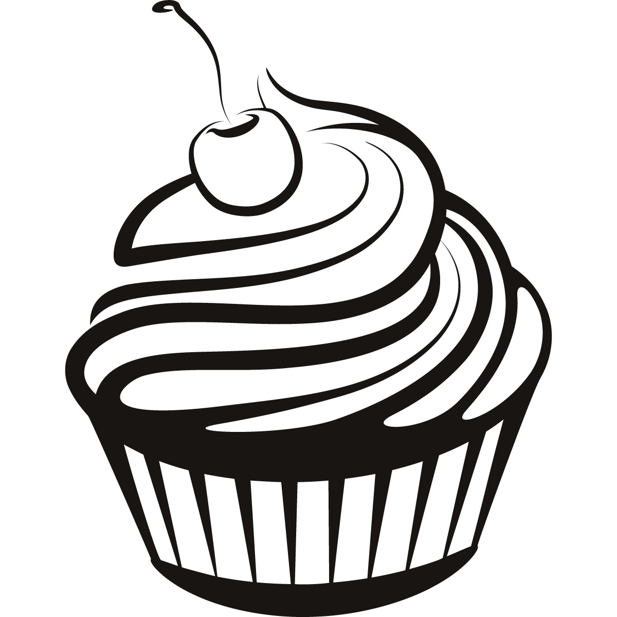 Cupcake Black And White Cupcake Clipart Black And White 6