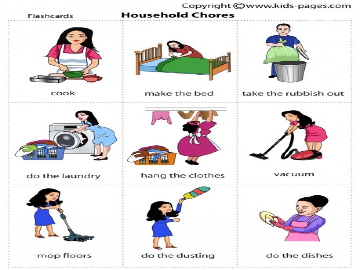 Household Chores Clipart 3