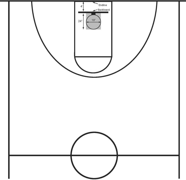 Printable Basketball Court Clipart