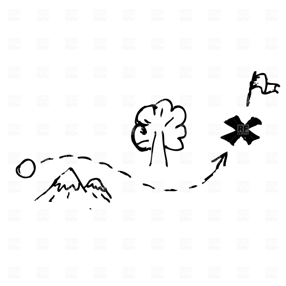 0 Ideas About Treasure Maps On Pirate Clipart 2