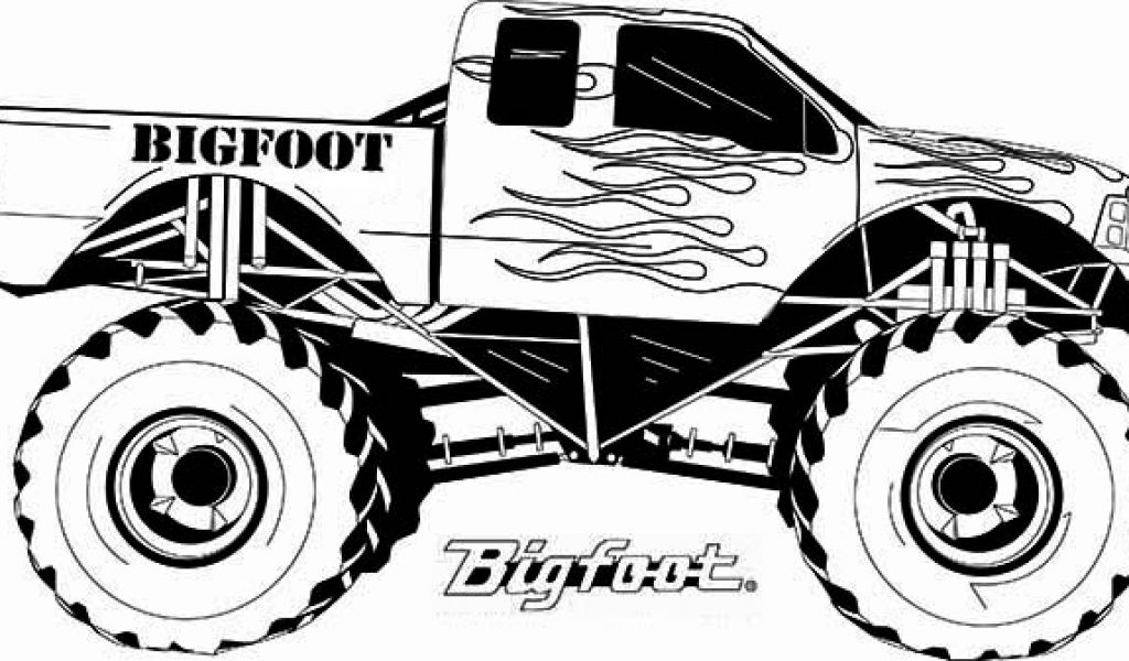 Monster Truck Coloring Page Clipart Wikiclipart