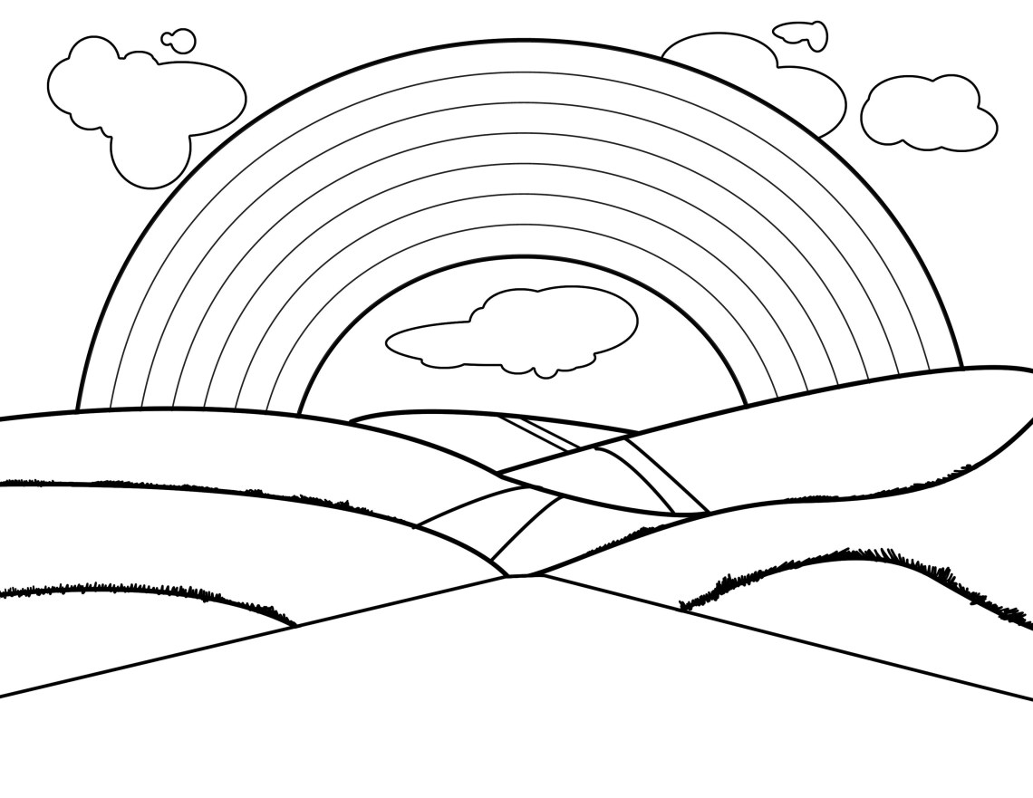 Rainbow Black And White Rainbow Clip Art Black And White Clipart Free To Use
