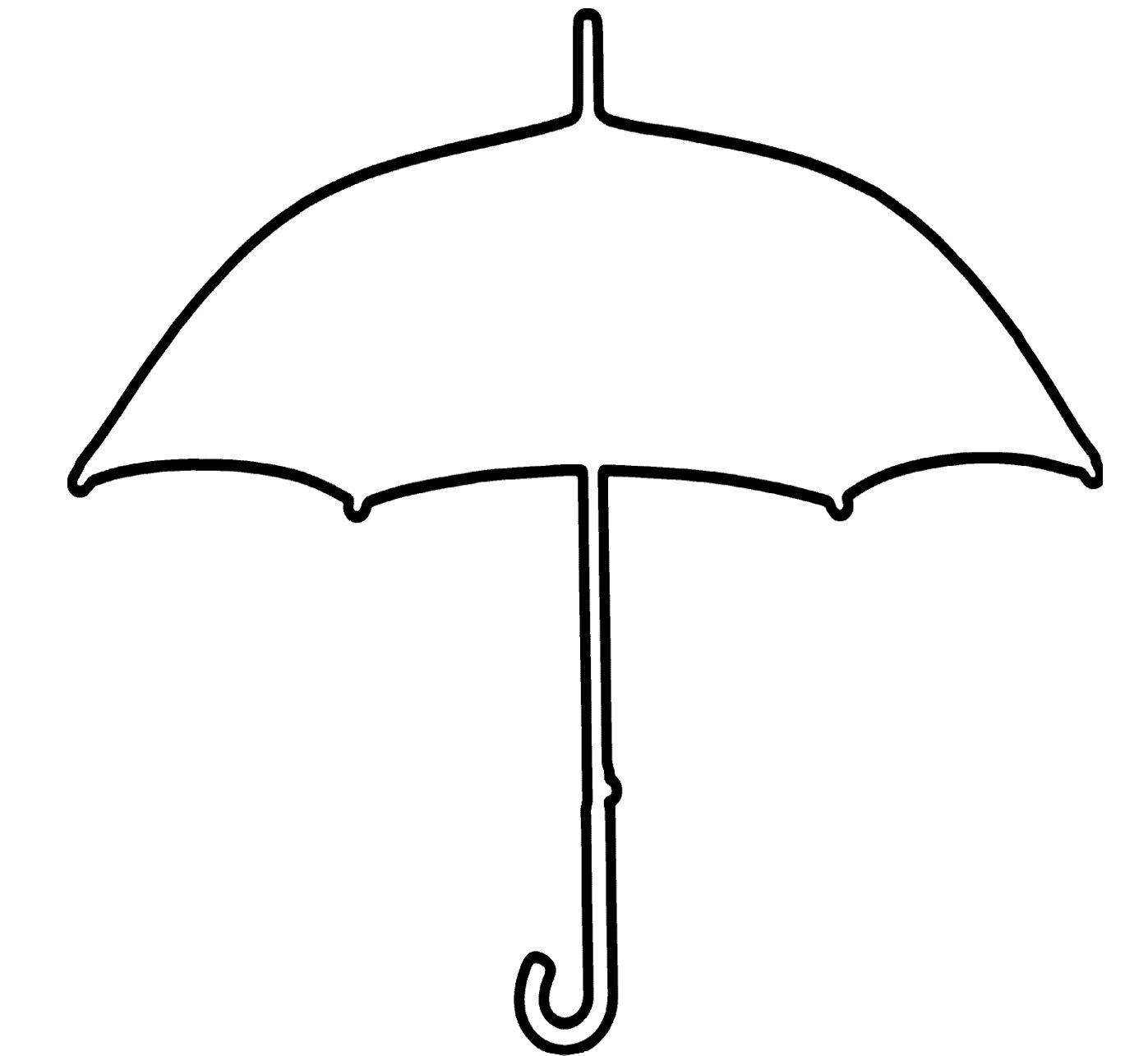 Umbrella Black And White Photos Of Umbrella Outline Clip
