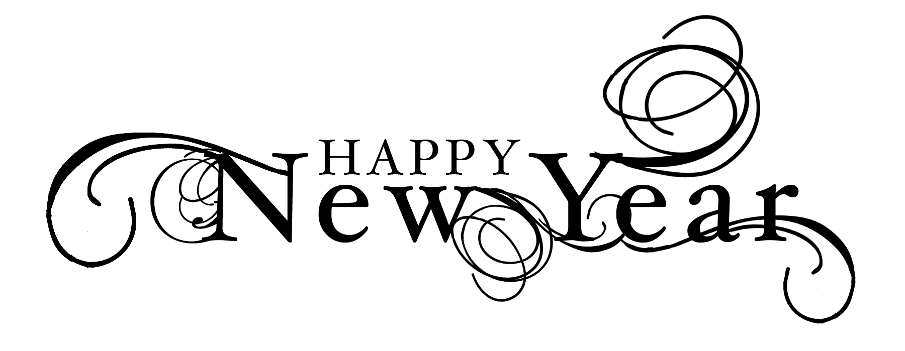 Black and white new year clip art merry christmas and happy new black and white new year clip art voltagebd Images