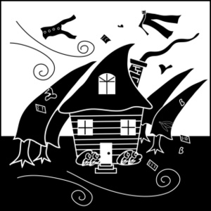 Hurricane Clipart Image Clip Art Of A Home Being Blown