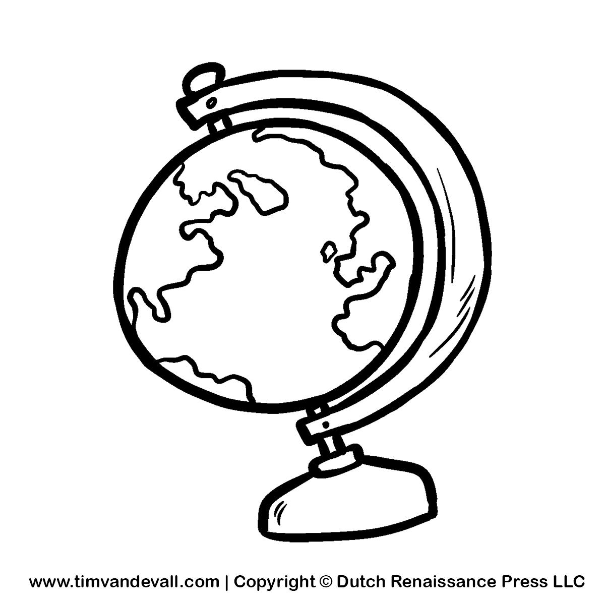 Globe Black And White Black And White Globe Clipart