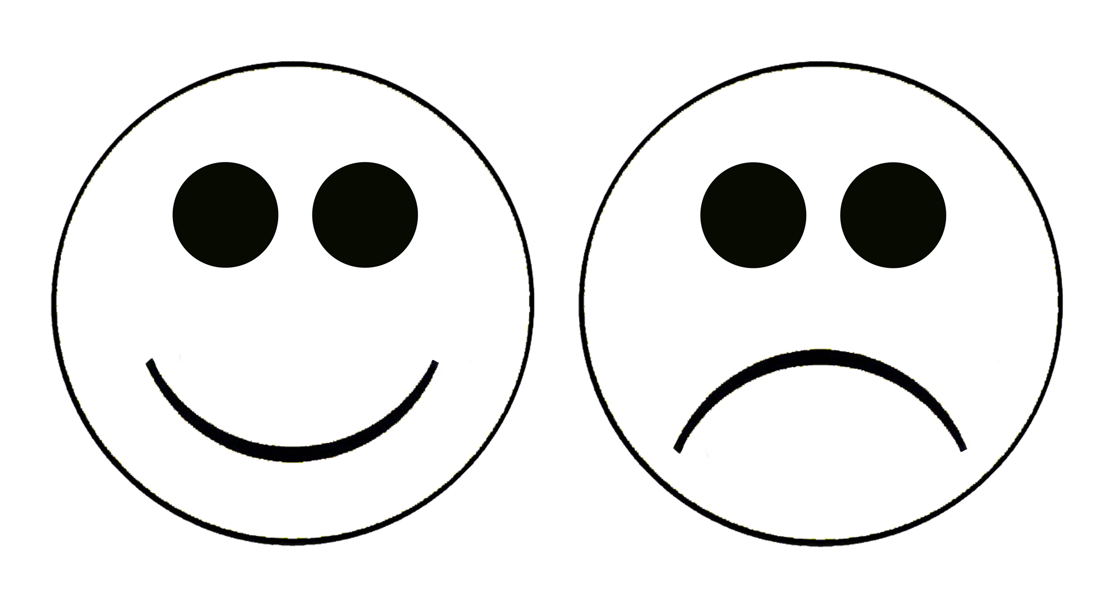 Smiley Face Clip Art Black And White