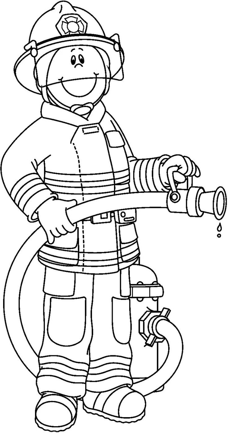 Firefighter Black And White Pwhu Images On Firefighter Clipart Firemen Wikiclipart
