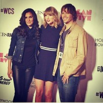 @danielaruah: I do think there is a quality true stars have, that you feel the moment you stand next to them. A quality that lets you know they will be around, breaking barriers for a very long time, @taylorswift has it. Genuine, sweet & absolutely stunning. #wcs