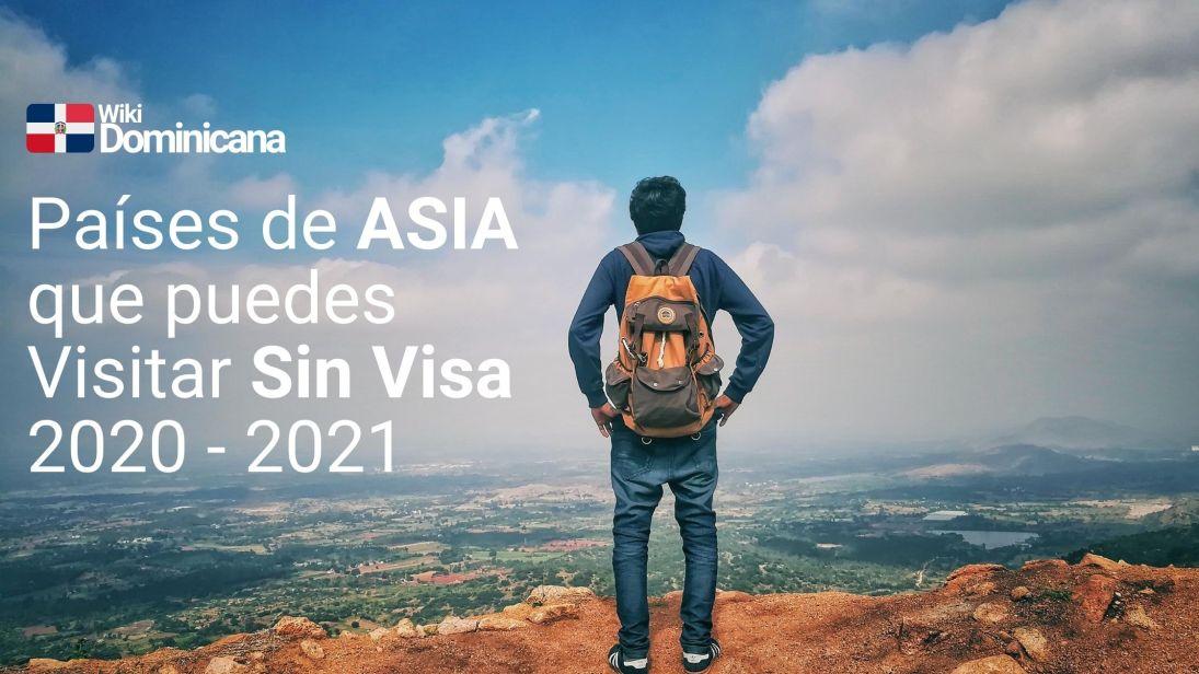 Países de Asia donde el dominicano puede visitar sin Visa 2020