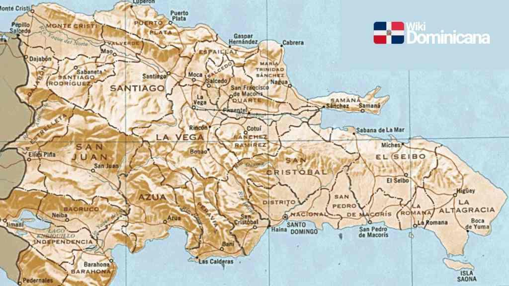 Mapa de la República Dominicana por región