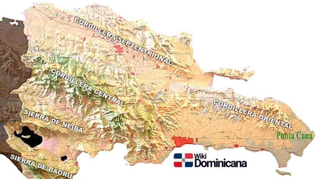 Cordilleras de República Dominicana mapa