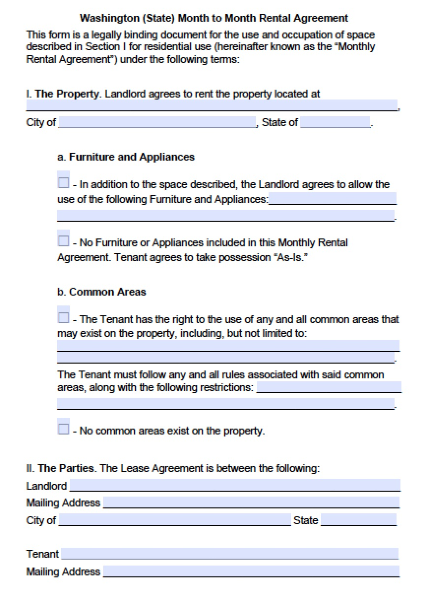 Property Purchase Agreement Form