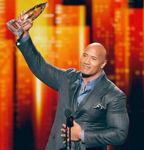 Dwayne winning People Choice
