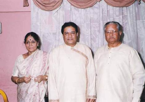 Anup with his Parents