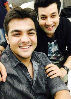 Ashish with Varun Sharma