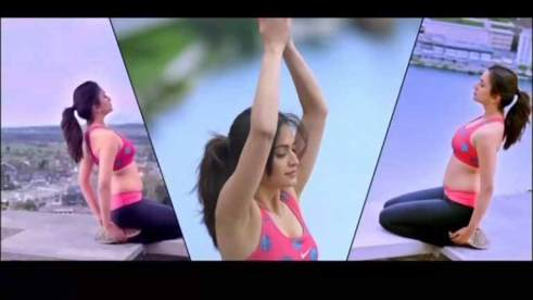 Kriti doing yoga