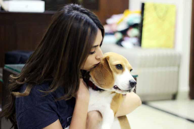 Kriti with her Dog