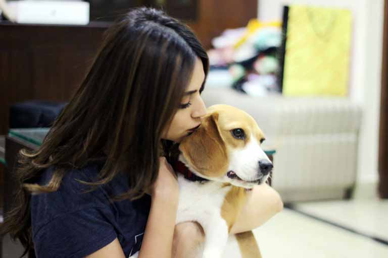 Kriti with her Dog