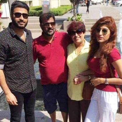 Shreya with her family