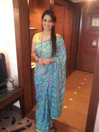 Srishty in Saree Looking Pretty