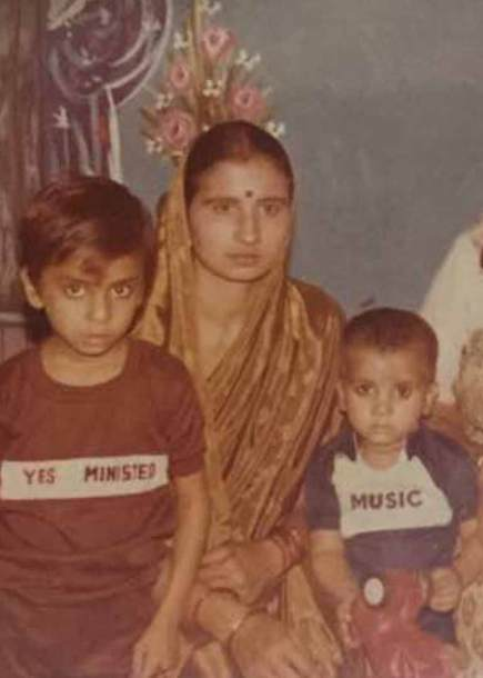 Rao with his Mother and Brother