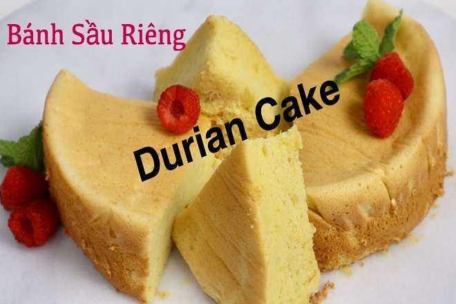 Bánh Chiffon sầu riêng