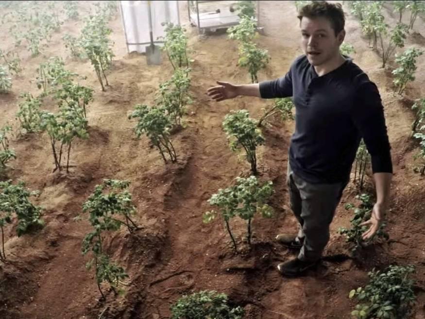 grow crops on mars