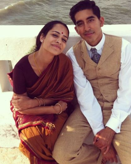 Actress with actor Dev Patel